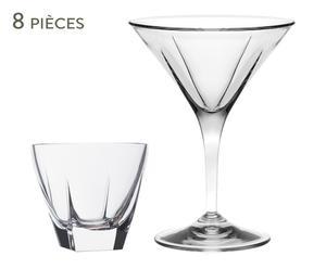 Service à martini, luxion® - 8 Pièces