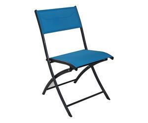 Chaise pliante CLEMO, turquoise - 40*46