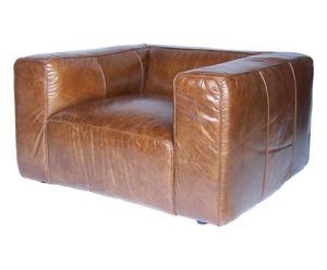 Fauteuil VINTAGE  cuir - marron