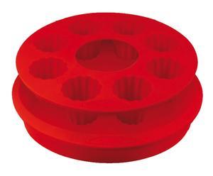 Moule à cannelés et 1 moule à manqué, rouge - L34
