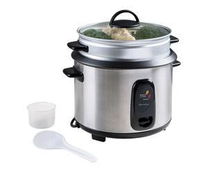 Cuiseur à riz et vapeur, noir et argenté - 34*32