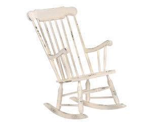 Chaise à bascule bois, blanc - H106