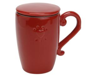 Mug dolomie, rouge - L15