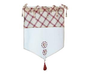 Brise-bise CHAMONIX coton, rouge et blanc - 45*70