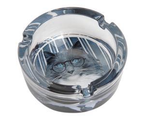 Cendrier verre, gris et transparent - Ø8