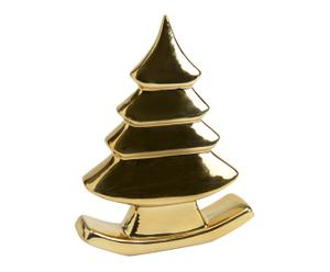 Sapin décoratif dolomie, doré - L22