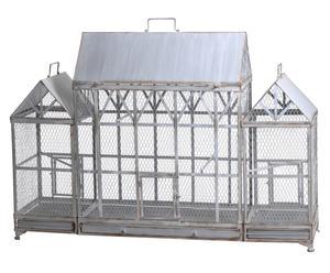Cage décorative XXL métal, gris - L135