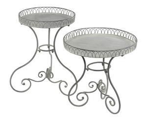 2 Tables gigognes ELISE, métal - gris