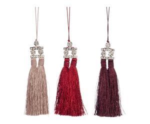 3 Embrasses coton et lin, multicolore - L20