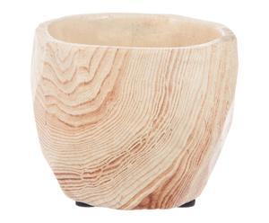 Cache-pot bois et ciment, naturel - Ø10