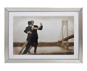 Cadre photo TANGO bois et verre, argenté - 79*109