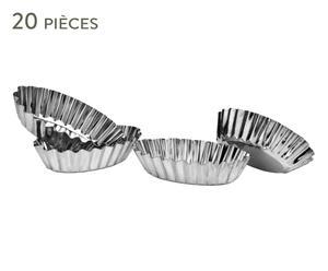 20 Moules à tartelettes LEO étain, argenté - Ø7