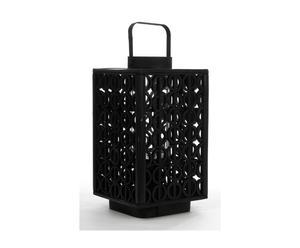 Lanterne bois, noir - H58