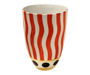 Vase, orange et blanc - Ø21