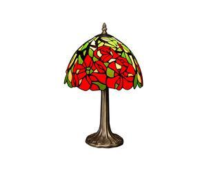 Lampe à poser Fiori, vitrail tiffany - H42