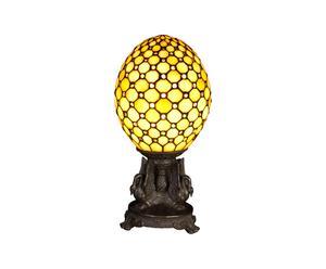 Lampe à poser Œuf, vitrail tiffany - H39