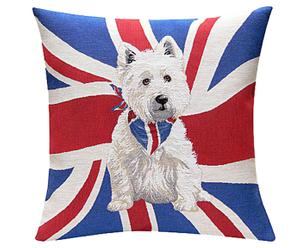 Coussin British Westy - 50*50