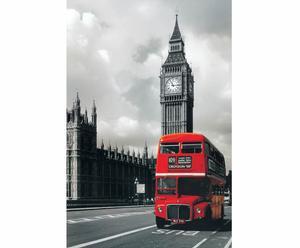 Affiche sur bois Bus Westminster - 60*90
