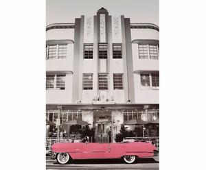 Affiche sur bois Pink Cadillac - 60*90