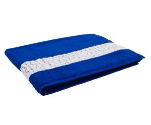 Drap de bain, coton - bleu klein