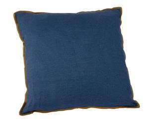 Coussin lin avec liseré, Bleu marine - 70*70