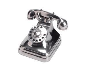 Téléphone vintage décoratif, aluminium - H18