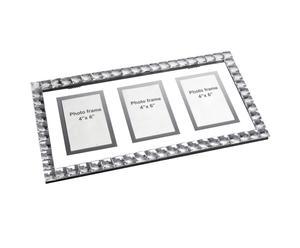 Cadre pour 3 photos, aluminium - L53