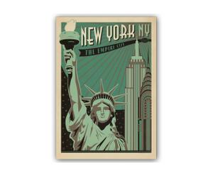 Affiche New York Empire City par J. Anderson - 42*60