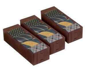 3 Boîtes à cravates, chocolat