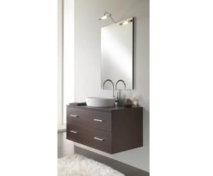 Ensemble de salle de bain, wengé - 4 pièces