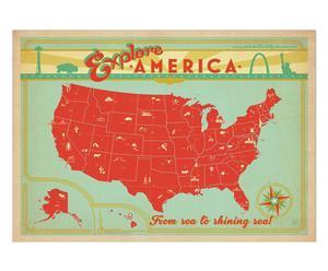 Affiche Explore America - 42*60