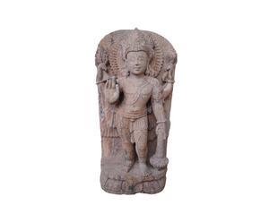 Sculpture de Vishnu, Grès - L30