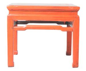 table d'appoint en bois d DUNG pin, Orange - L55