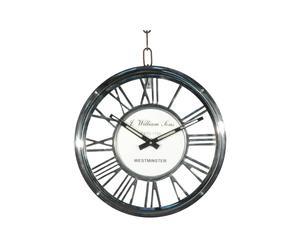 Horloge murale Aluminium, Blanc et gris foncé - Ø40