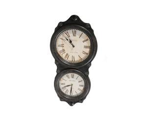 Horloge murale Bois, Noir et blanc - H77