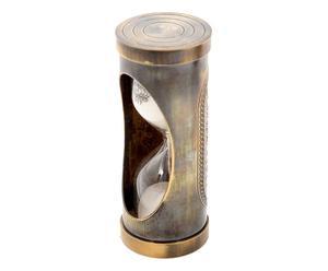 Sablier décoratif Laiton et verre, Brun - H10