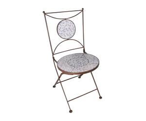 Chaise pliante ANTIQUA, Céramique et fer forgé - H87