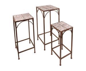 3 Tables ANTIQUA - Céramique et fer forgé