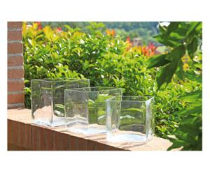 3 Vases, Verre - Transparent