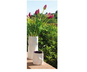 2 Vases, Céramique - Blanc