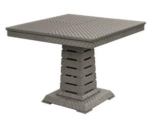 Table Aluminium, Gris  - L120