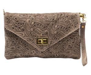 Pochette Cuir, Taupe - 27*17