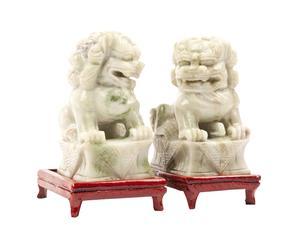 2 Statuettes décoratives, Jade - H13