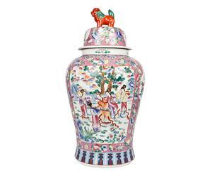 Potiche chinoise Porcelaine, Multicolore - XL