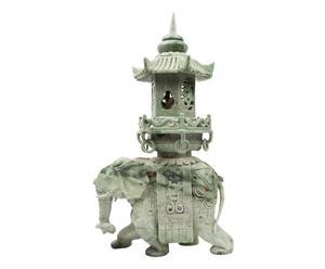 Sculpture ELEPHANT Jade, Vert et gris - L