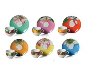 Service à café EWA, Céramique - Multicolore