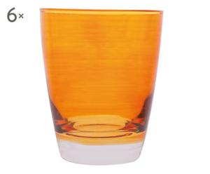 6 Verres CUC, Orange - 24 cl