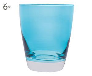 6 Verres DIA, Bleu clair - 24 cl