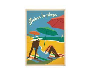 Affiche J'aime la plage - 42*60