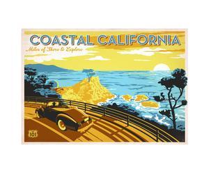 Affiche Coastal California - 42*60